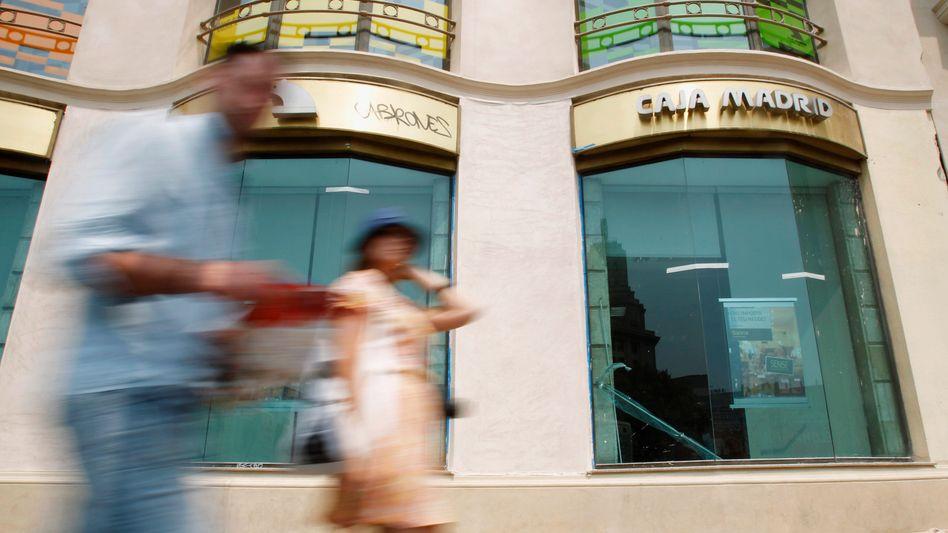 Bank in Madrid: Spanien erlebt nach langer Zeit einen Aufschwung