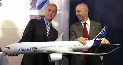 A350-Modell: Risikoreiche Entscheidung für oder gegen das Langstreckenflugzeug