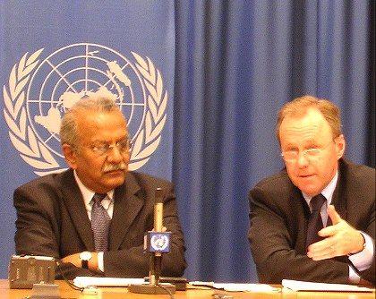 Nitin Desai und Markus Kummer, WGIG: Die Diplomaten wünschen sich internationales Forum für die Netzpolitik