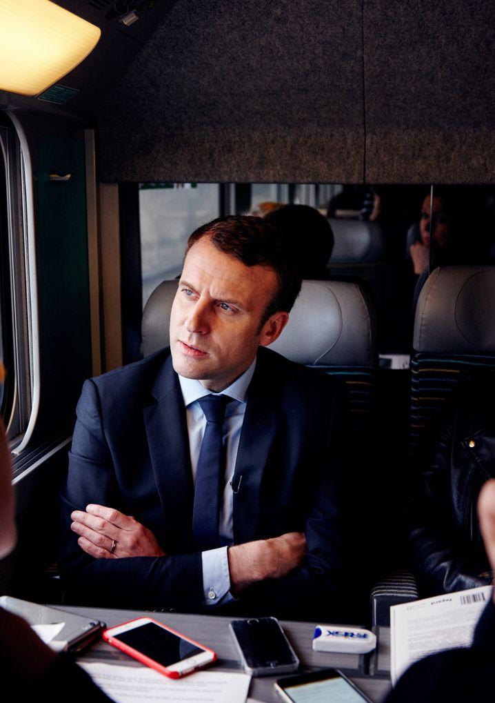 Macron beim SPIEGEL-Gespräch
