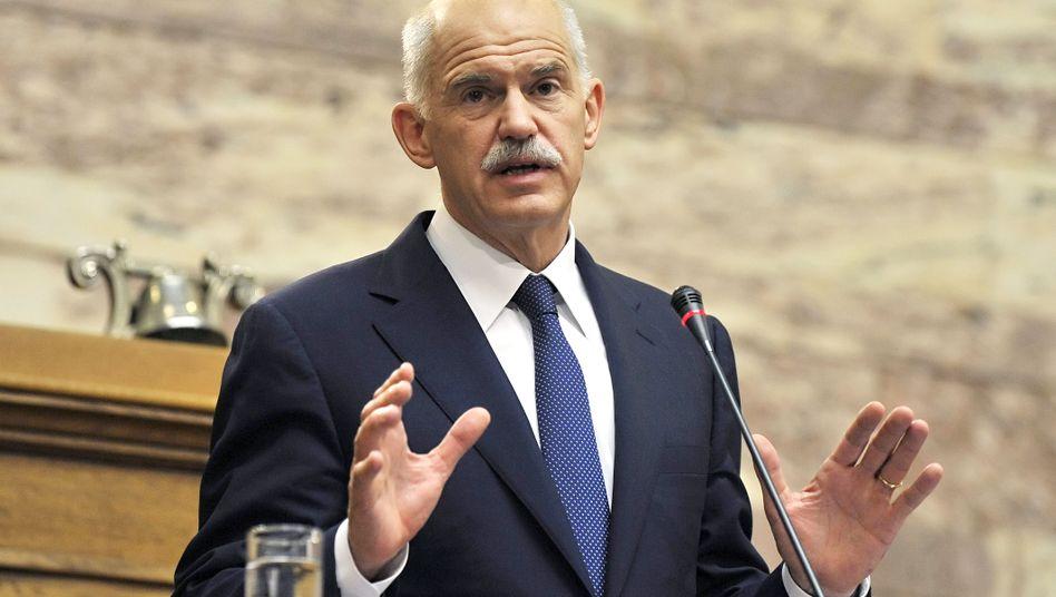 """Premier Papandreou vor seiner Fraktion: """"Wir tragen ein Kreuz"""""""