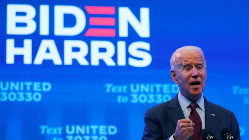 Joe Biden bei einer Rede in Wilmington, Delaware