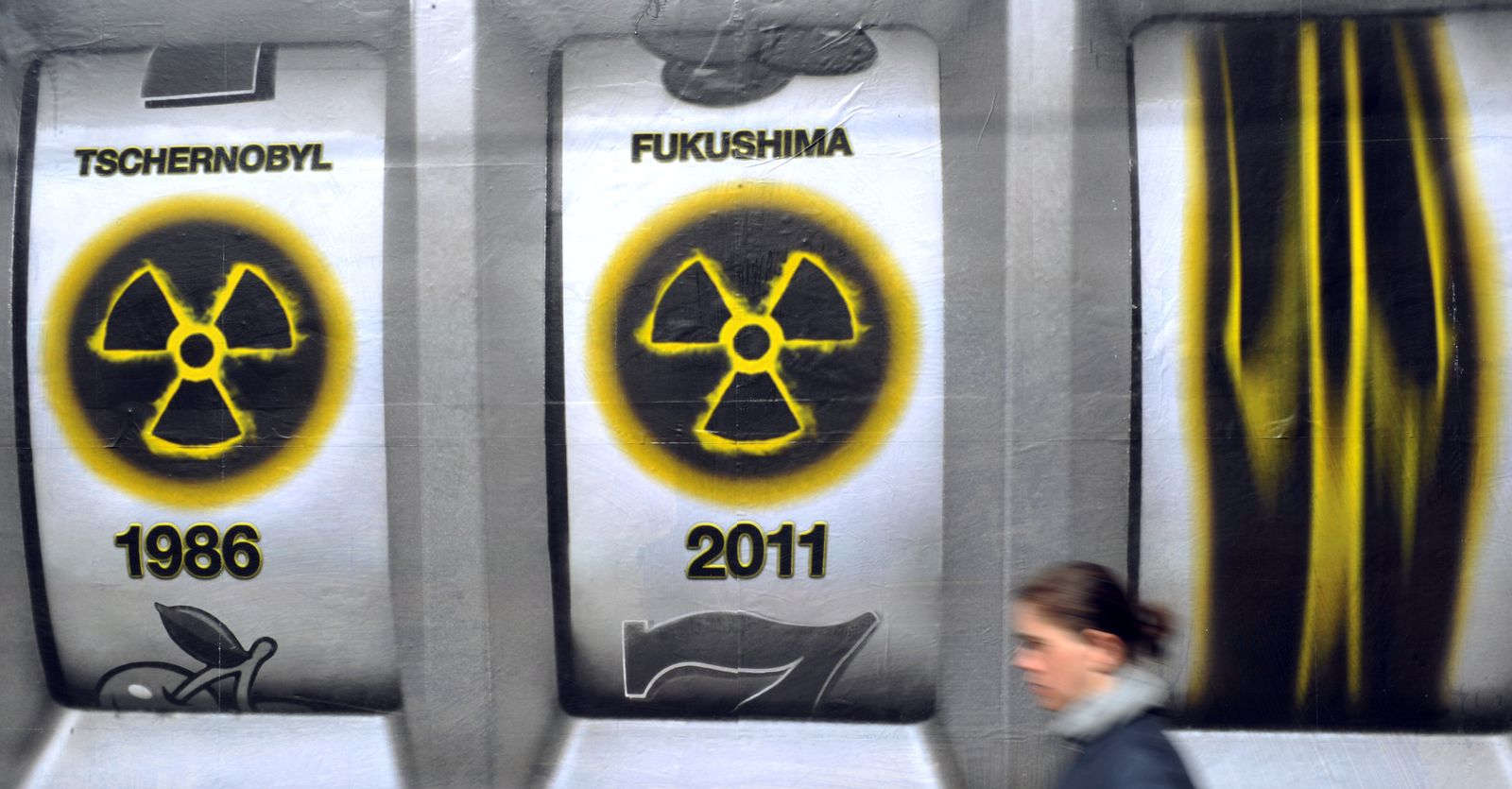 Großplakat gegen Atomkraft