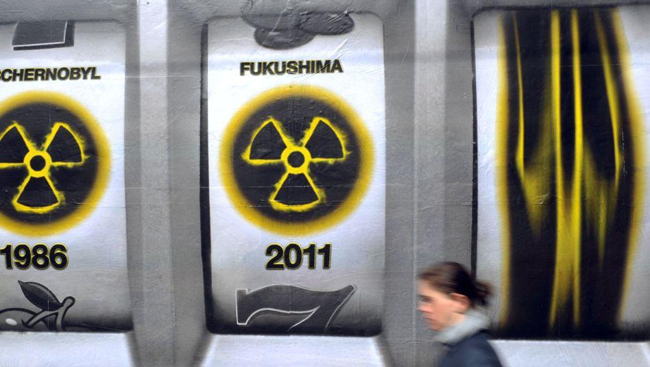 Plakat gegen Atomkraft (Archivbild): Nach Fukushima begann die Energiewende in Deutschland
