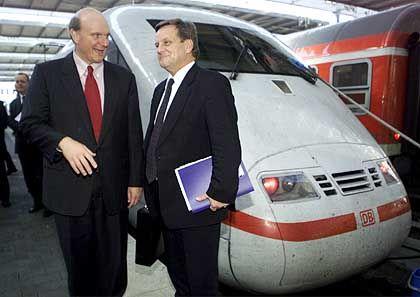 Hochkarätige Parung: Ende Oktober trafen sich Ballmer und Mehdorn im Zug