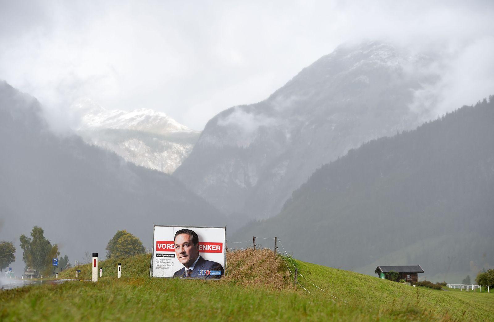 Wahlplakat Österreich / Strache / FPÖ
