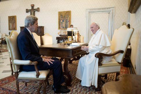 US-Klimaschutzbeauftragter Kerry, Papst Franziskus in Rom