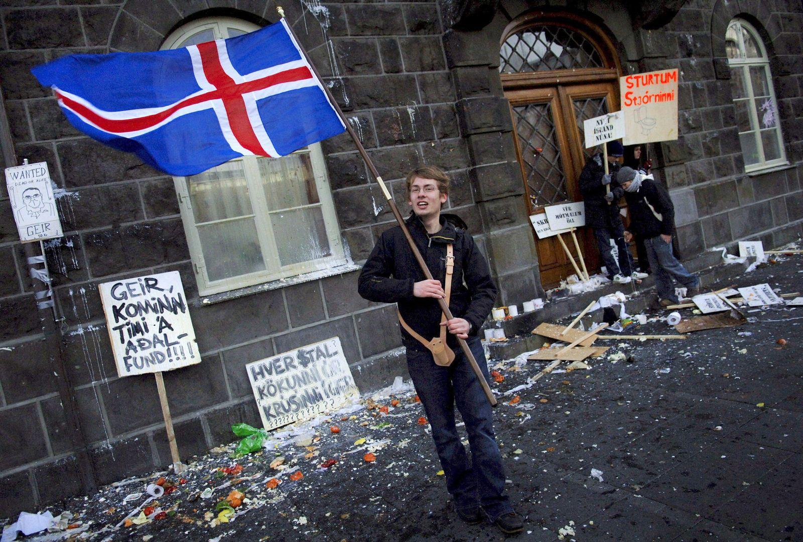 Island Finanzkrise Proteste