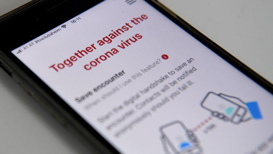 In Österreich gibt es bereits eine Corona-App - hierbei wird inzwischen offenbar geplant, auf einen dezentralen Ansatz zu setzen