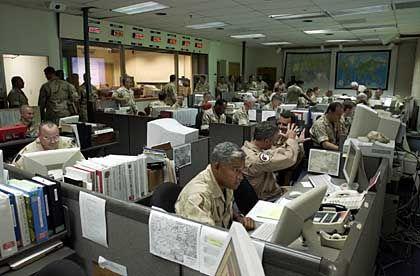 """War Room"": Kommandozentrale der MacDill Air Force Base"