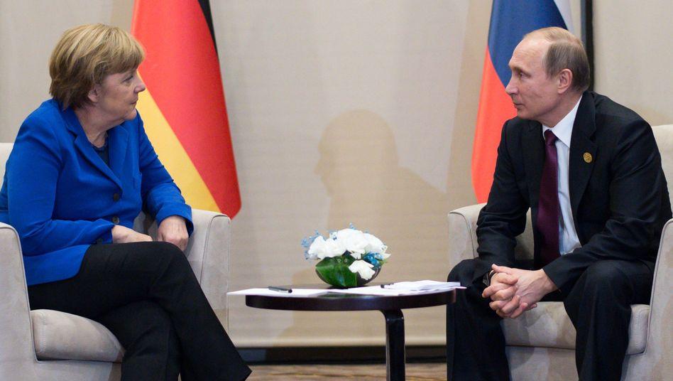 Merkel mit Putin