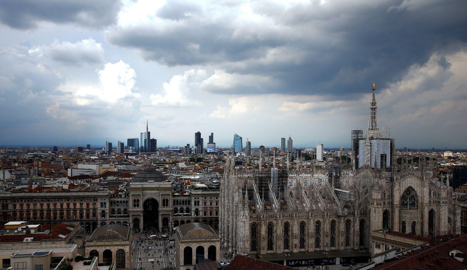 Italien Mailand Konjunktur Banken Banken-Viertel / Wirtschaft / Inflation