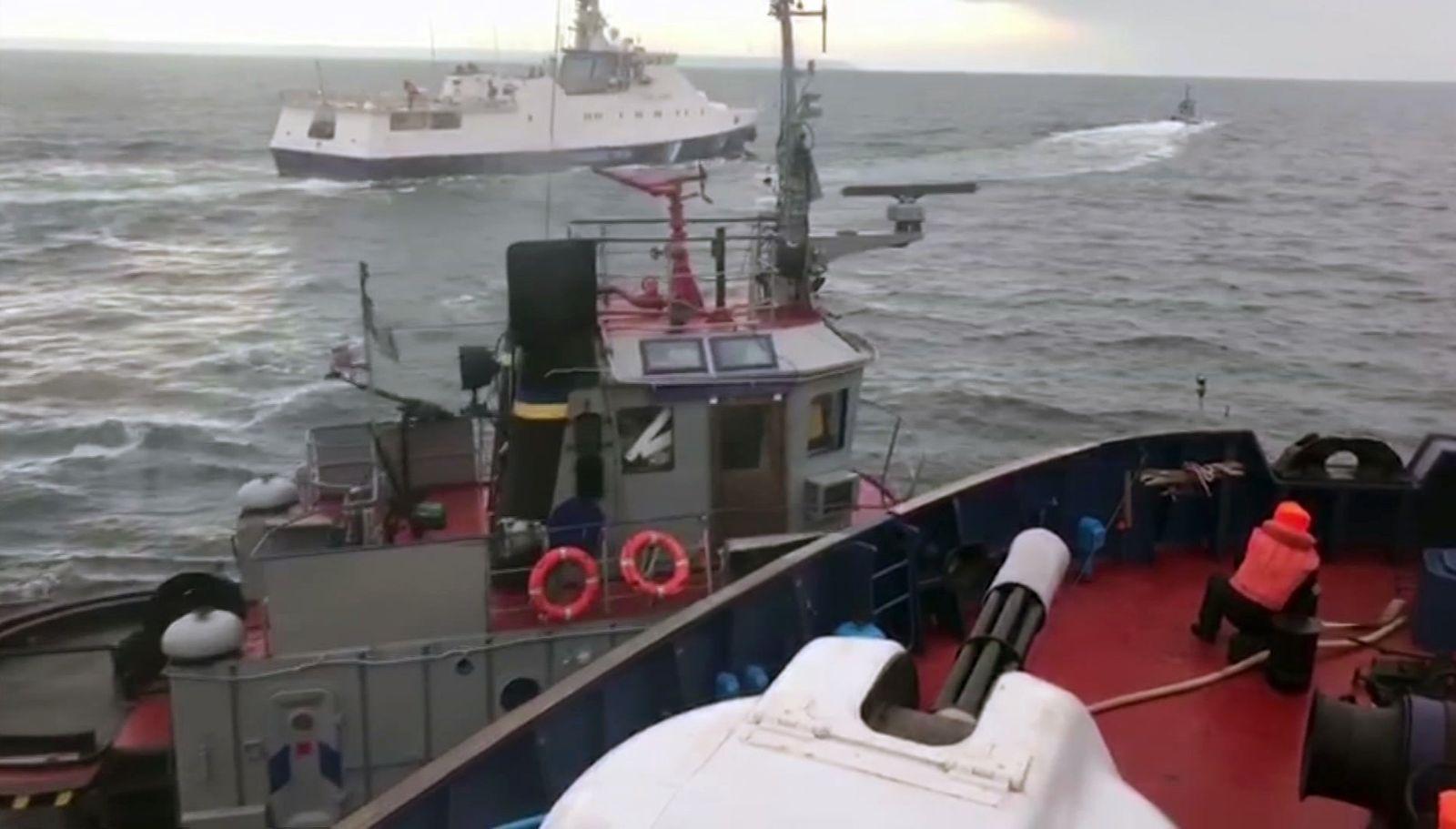 Russland Ukraine Kriegsschiffe