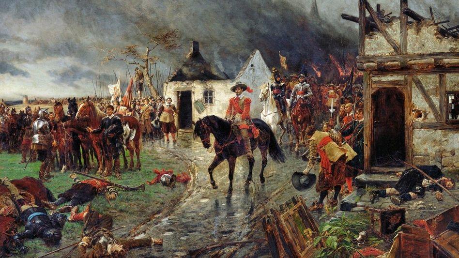 Feldherr Wallenstein Ölgemälde von Ernest Crofts, 1884