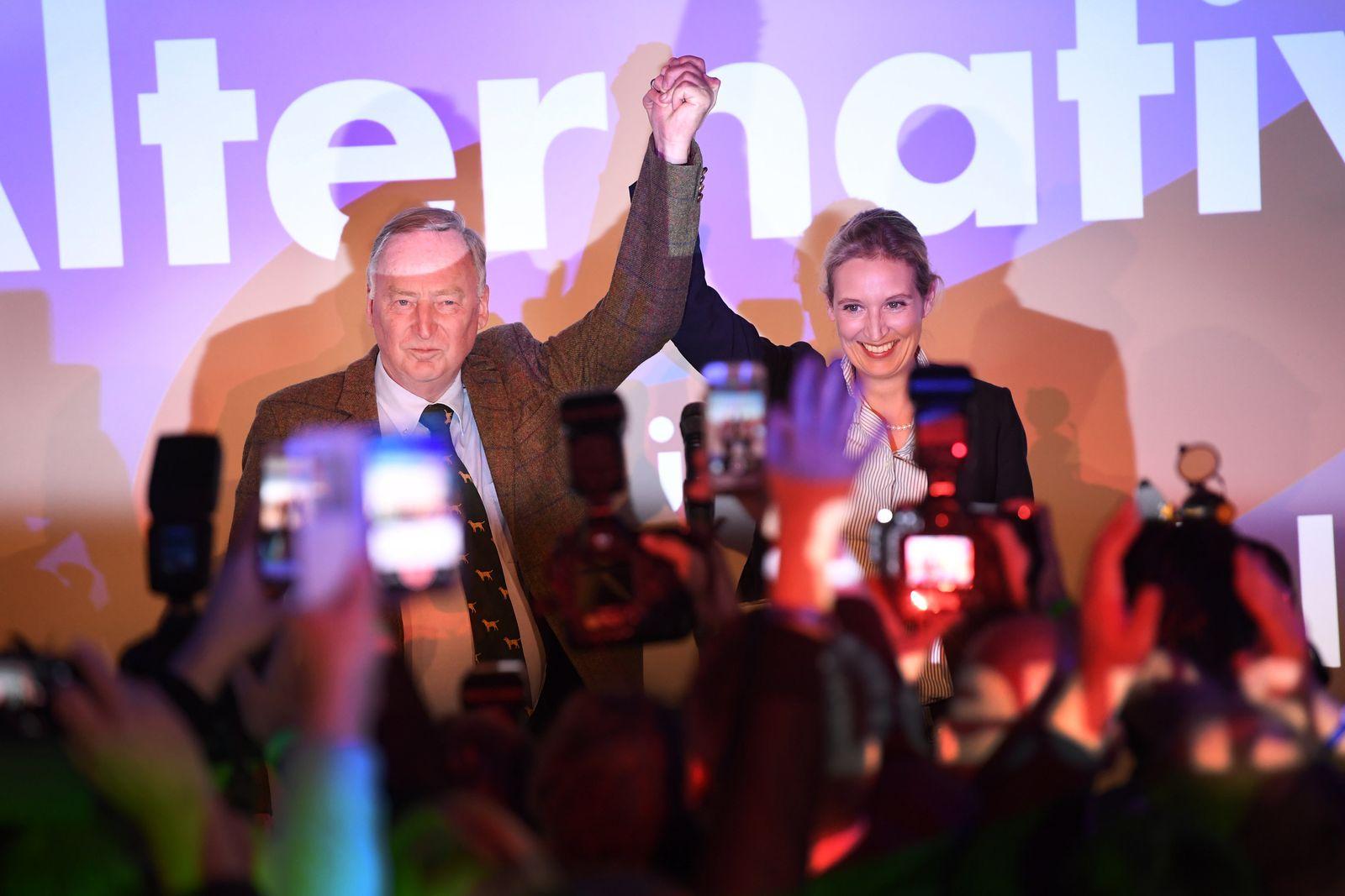 Bundestagswahl/ 2017/ AFD / Jubel