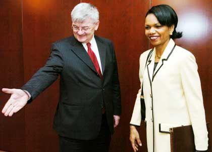 Condoleezza Rice und Joschka Fischer: Positive Stimmen aus der Koalition
