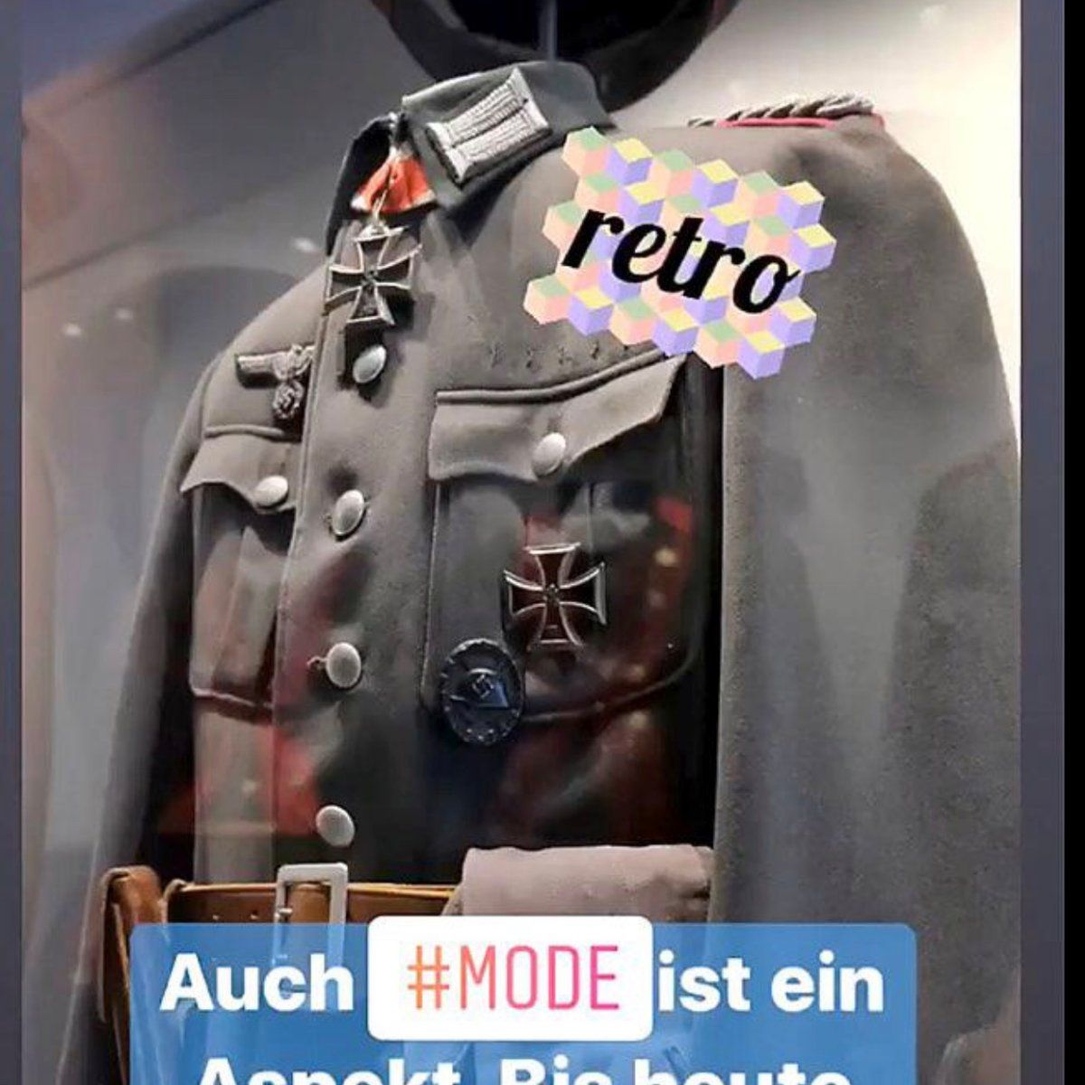 Nazi-Uniform bei Instagram