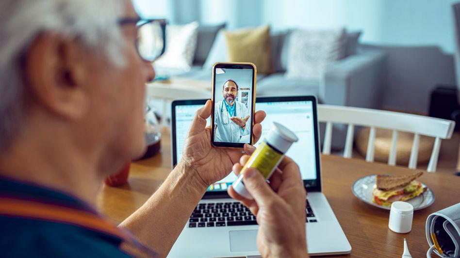 Ein Arztgespräch per Videochat: Ist möglich, wird in Deutschland aber selten genutzt