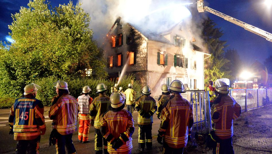 Brennende Asylbewerberunterkunft in Weissbach