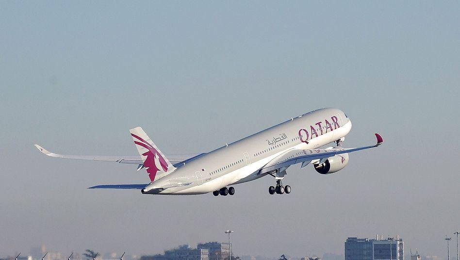Flugzeug von Qatar Airways
