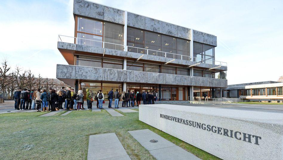 Bundesverfassungsgerichts in Karlsruhe: vier Verfassungsbeschwerden gegen die Datenspeicherung