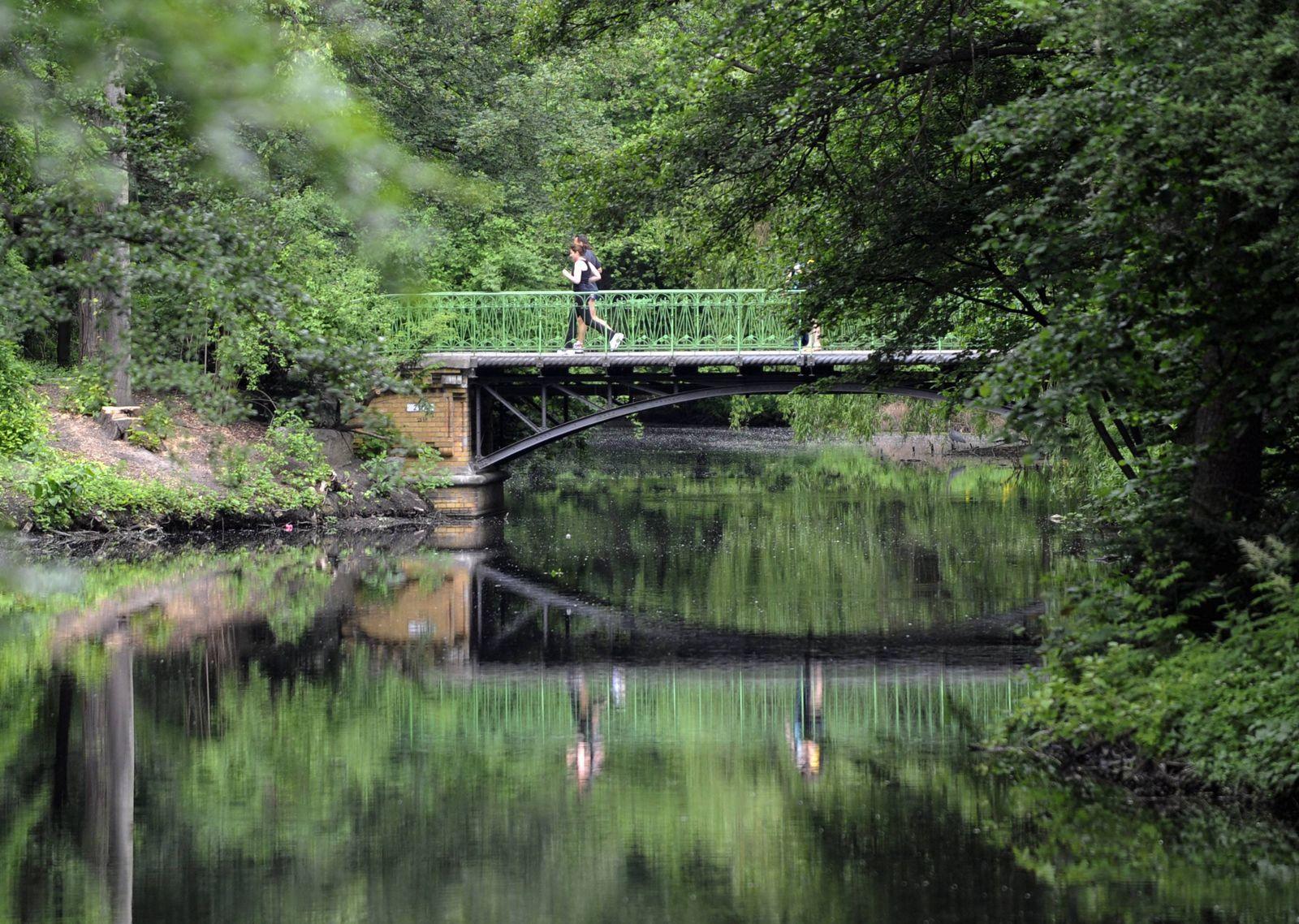 NICHT VERWENDEN Jogger im Tiergarten
