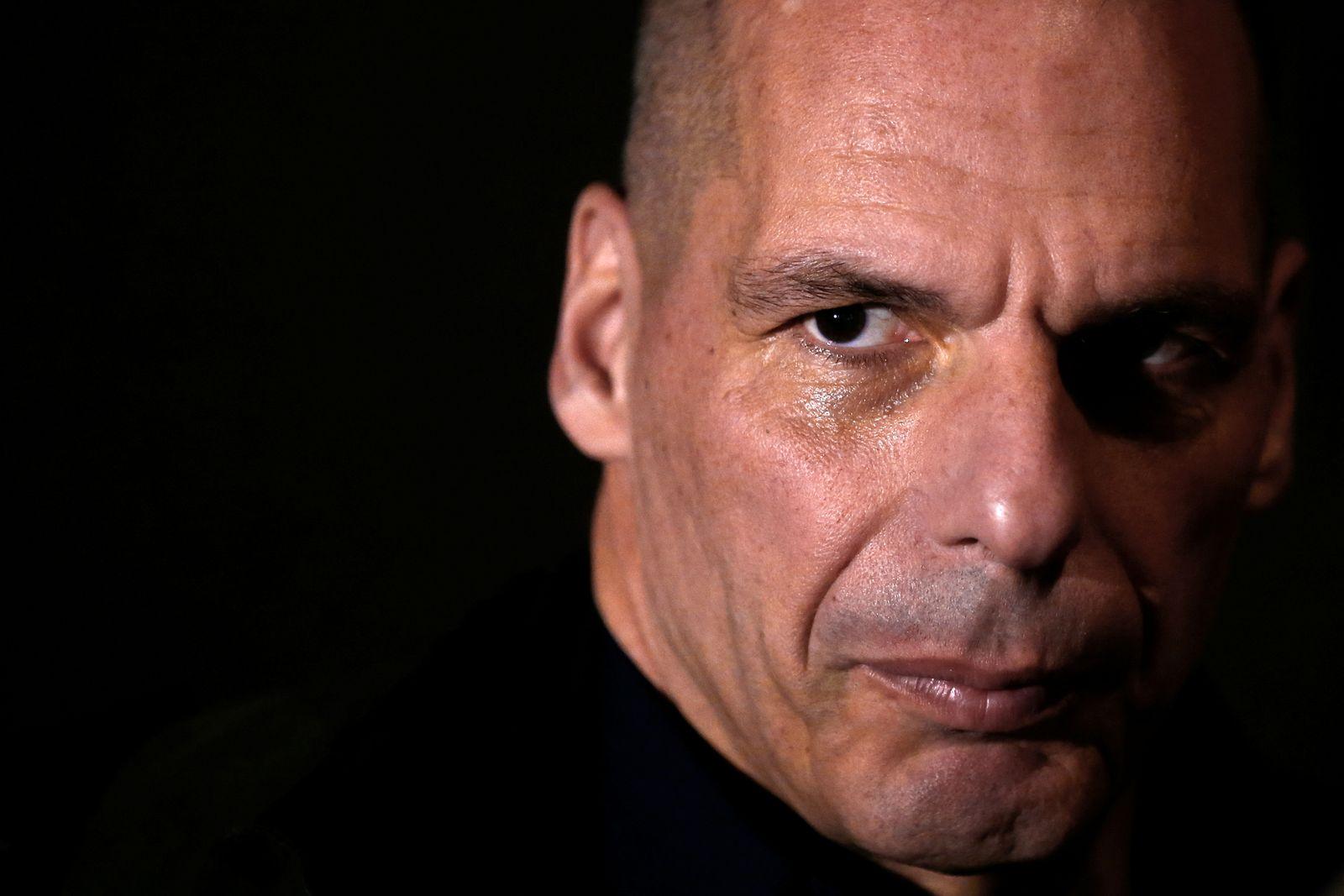 Former Greek Finance minister Yanis Varoufakis presents his new party MeRA25