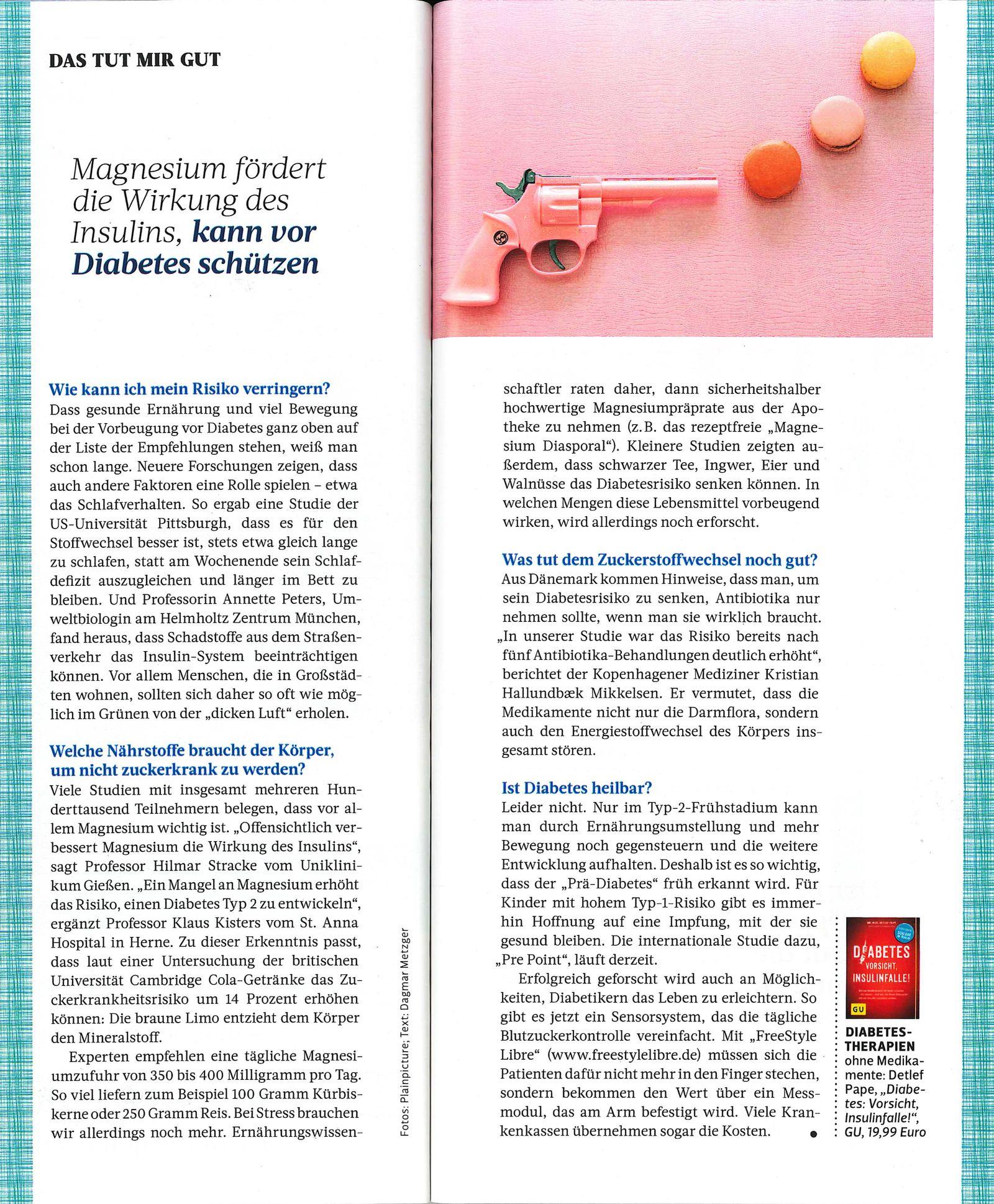 EINMALIGE VERWENDUNG Produkt/ Hinweis/ Magnesium Diasporal/ Für Sie