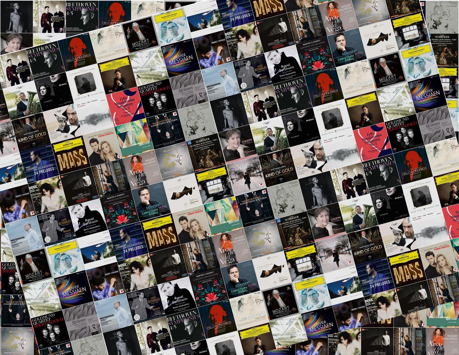 EINMALIGE VERWENDUNG Collage Albencover Klassik 2018