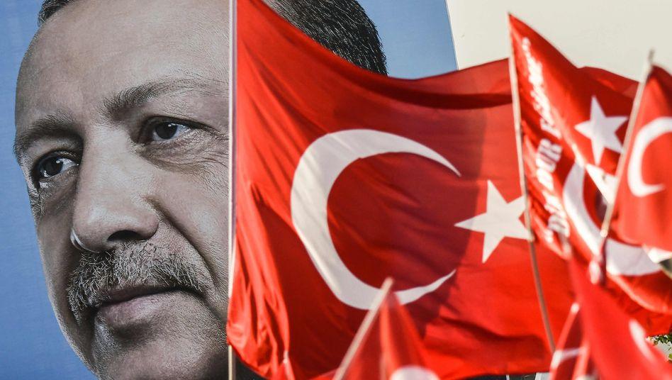 Wahlwerbung für Präsident Erdogan
