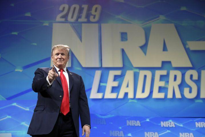 An der Seite der NRA: Trump beim Jahreskongress der Waffenlobby im April 2019