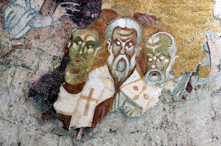 Fresko in der St.-Nikolaus-Kirche im türkischen Demre