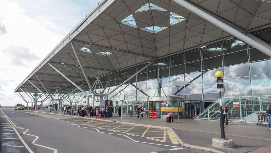 Terminal am Flughafen London Stansted
