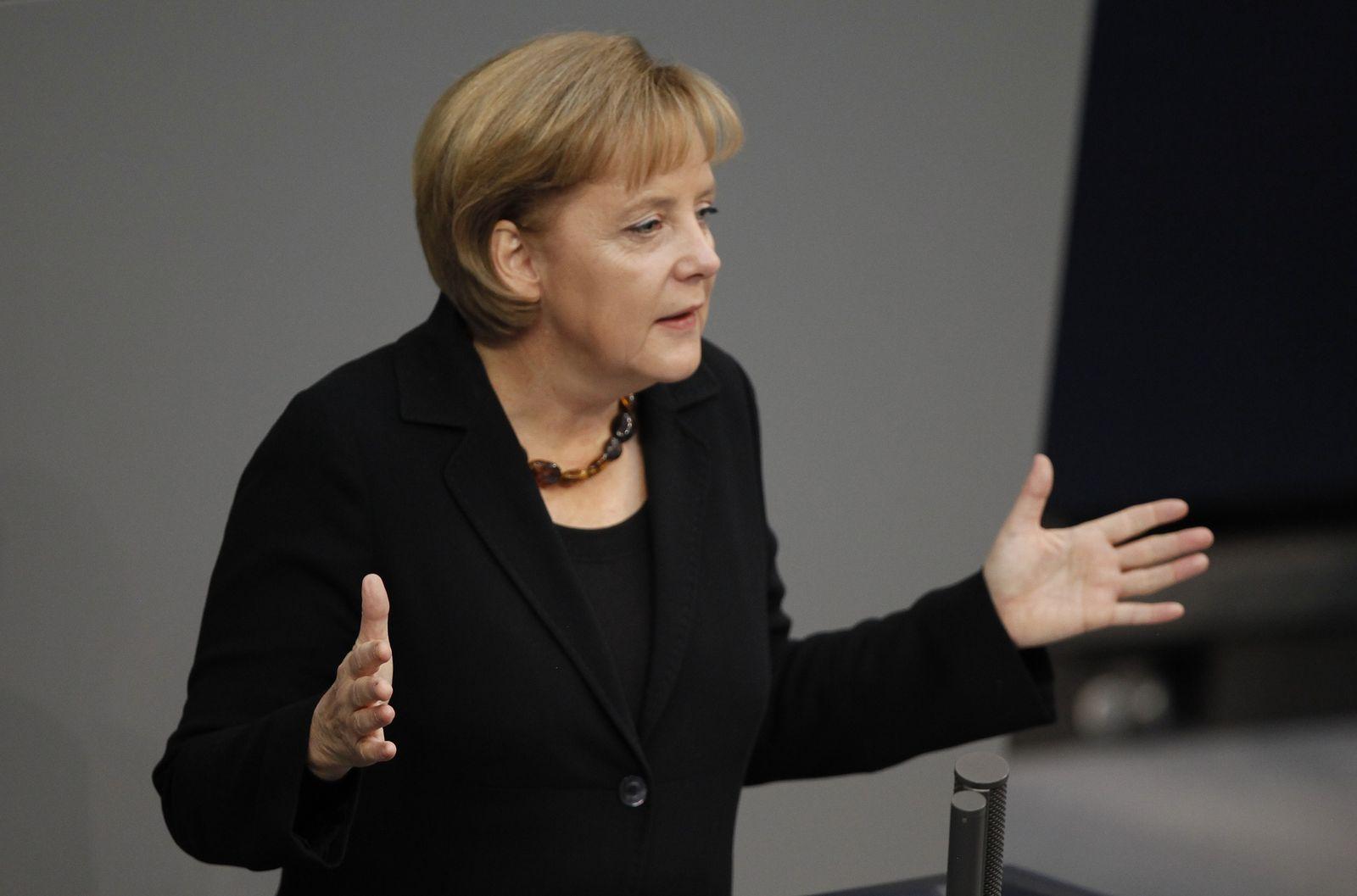 Merkel/ Regierungserklärung