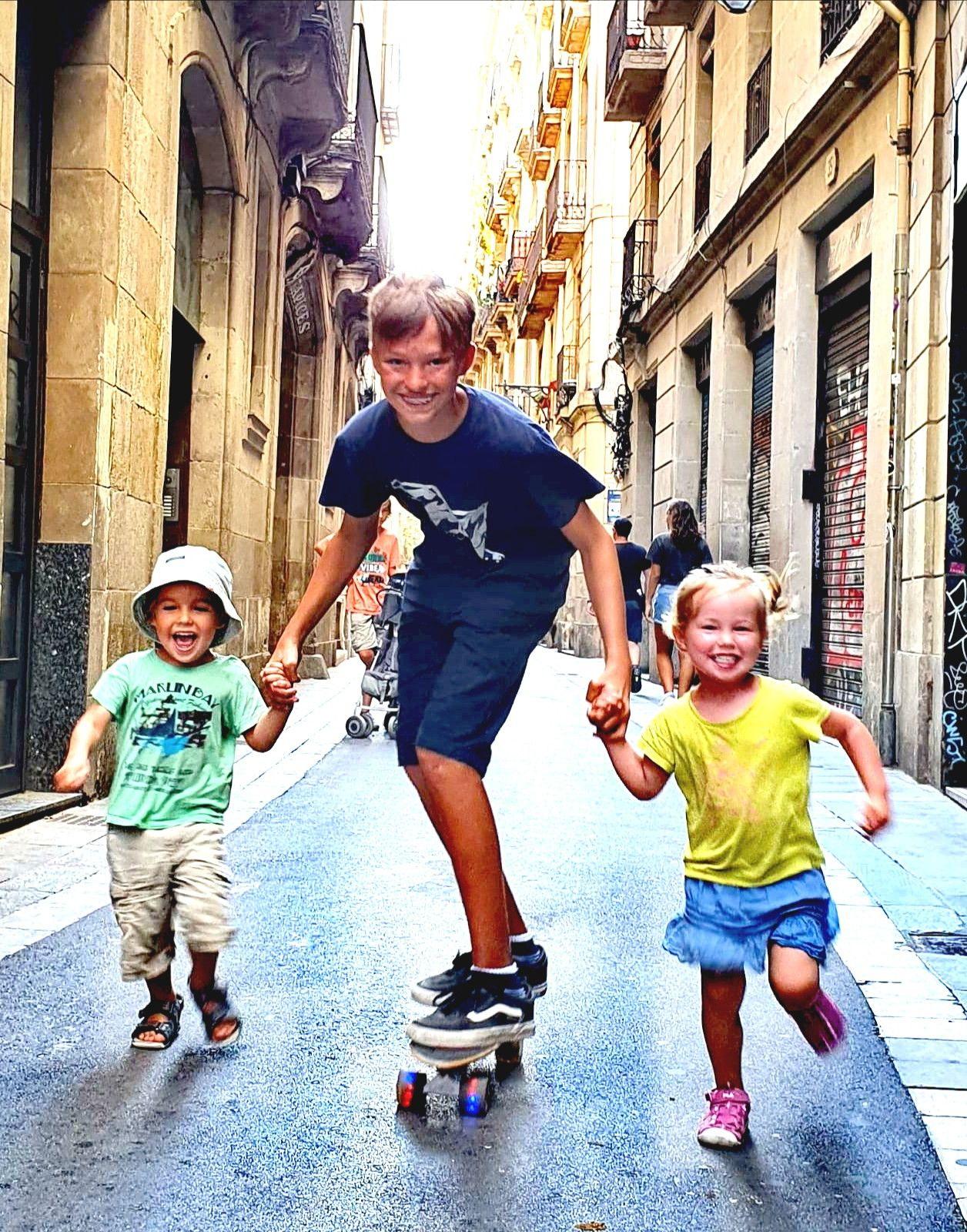 Leere Gassen in Barcelona