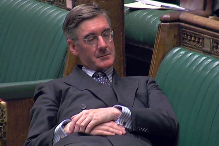 Jacob Rees-Mogg has been heavily criticized for his nap in parliament this week.