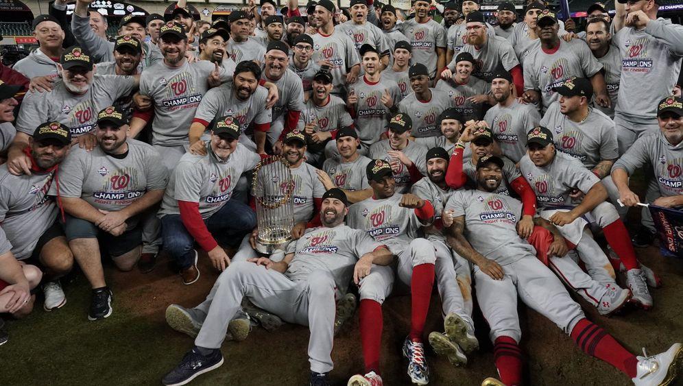 Baseball-Champion: So feiern die Washington Nationals ihren MLB-Titel