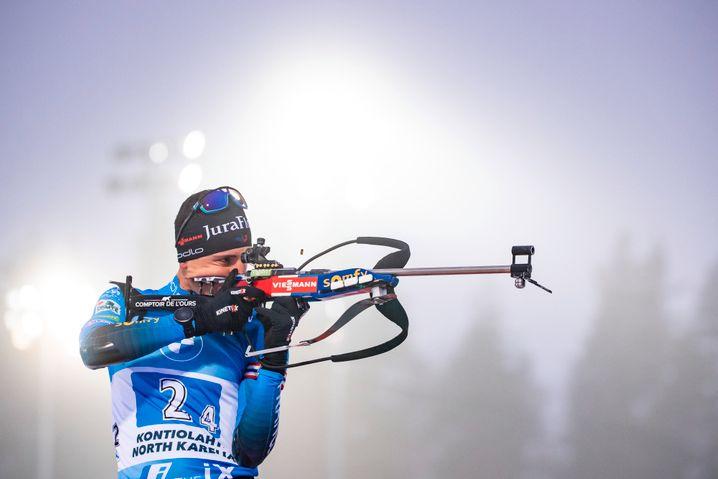 Quentin Fillon Maillet, Dezember 2020 in Kontiolahti