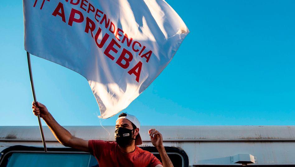 Viele junge Chilenen fordern eine neue Verfassung
