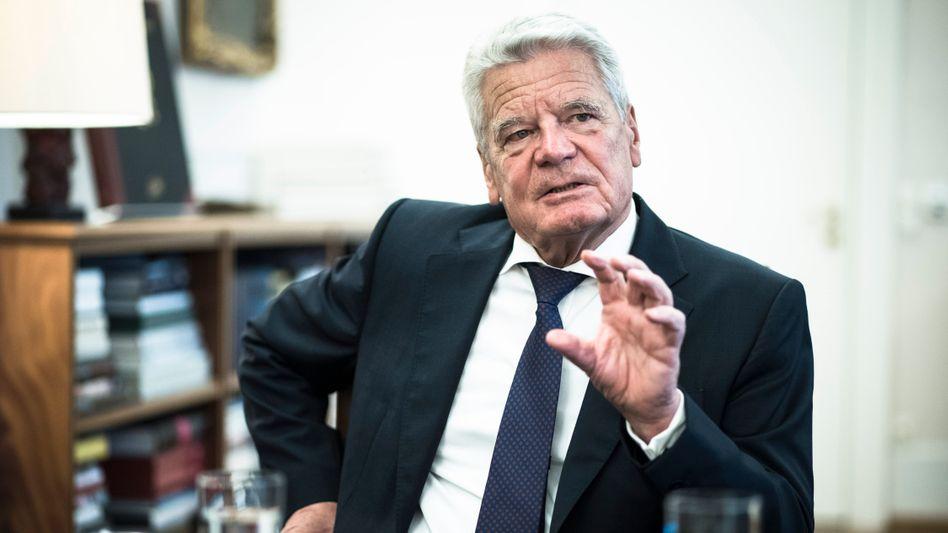 Bundespräsident Joachim Gauck beim SPIEGEL-ONLINE-Interview