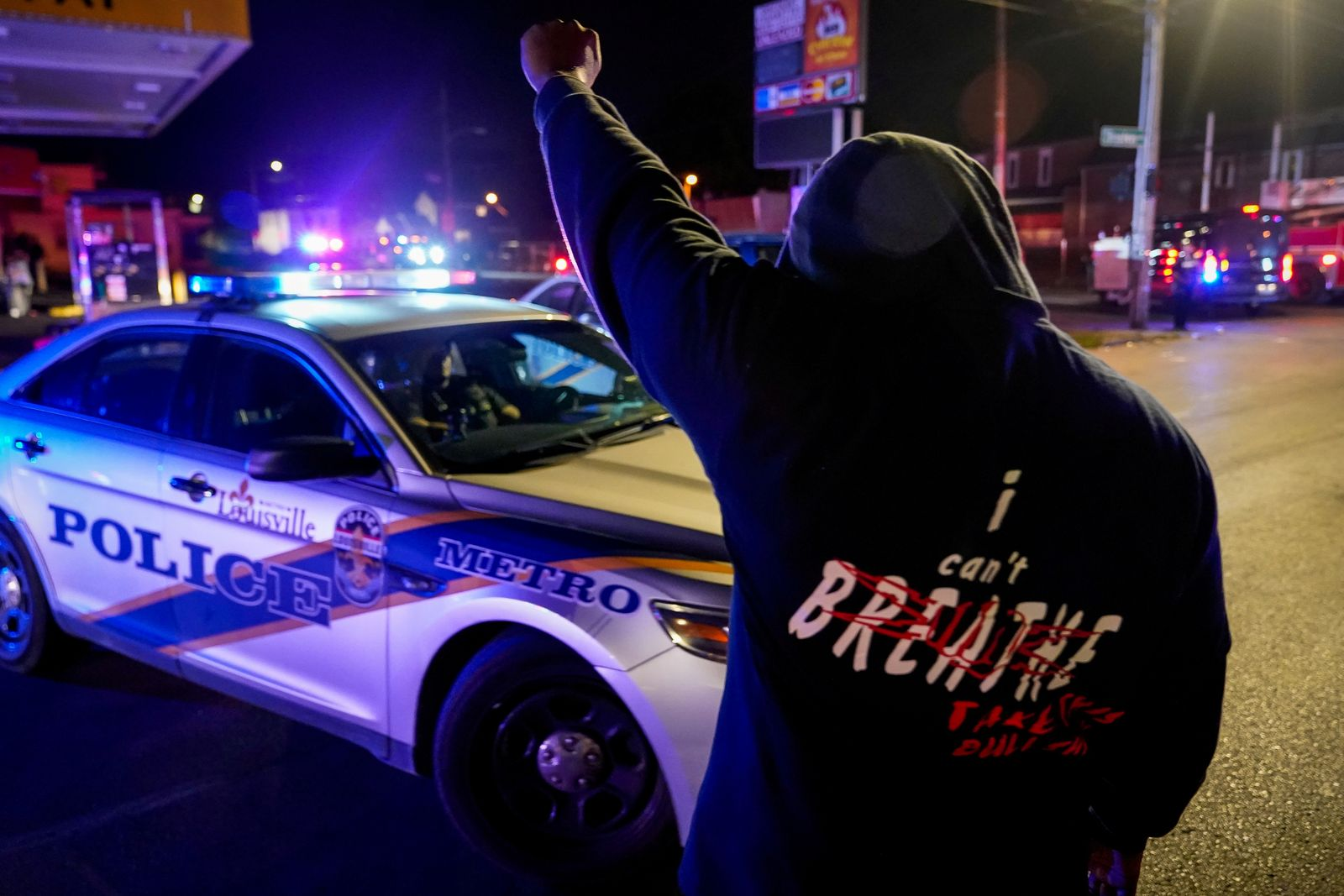 FILE PHOTO: Protests in Louisville following the death of Breonna Taylor