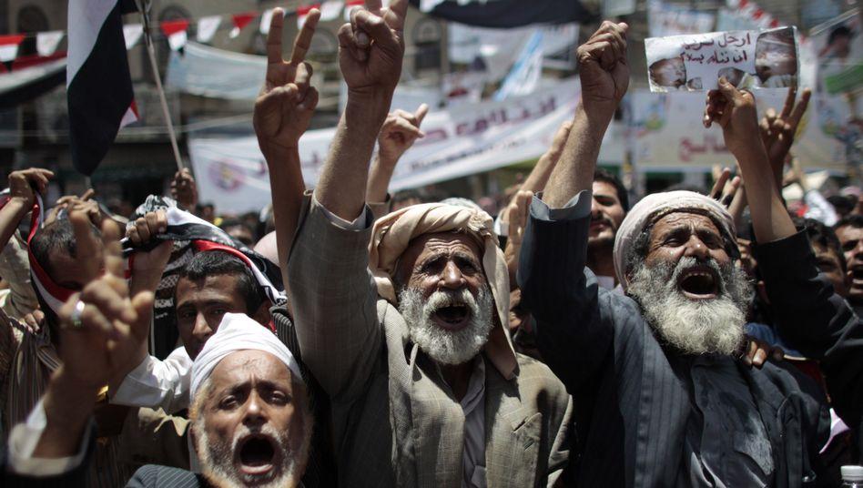 Protest in Sanaa: Regierungsgegner fordern den Rücktritt von Präsident Salih