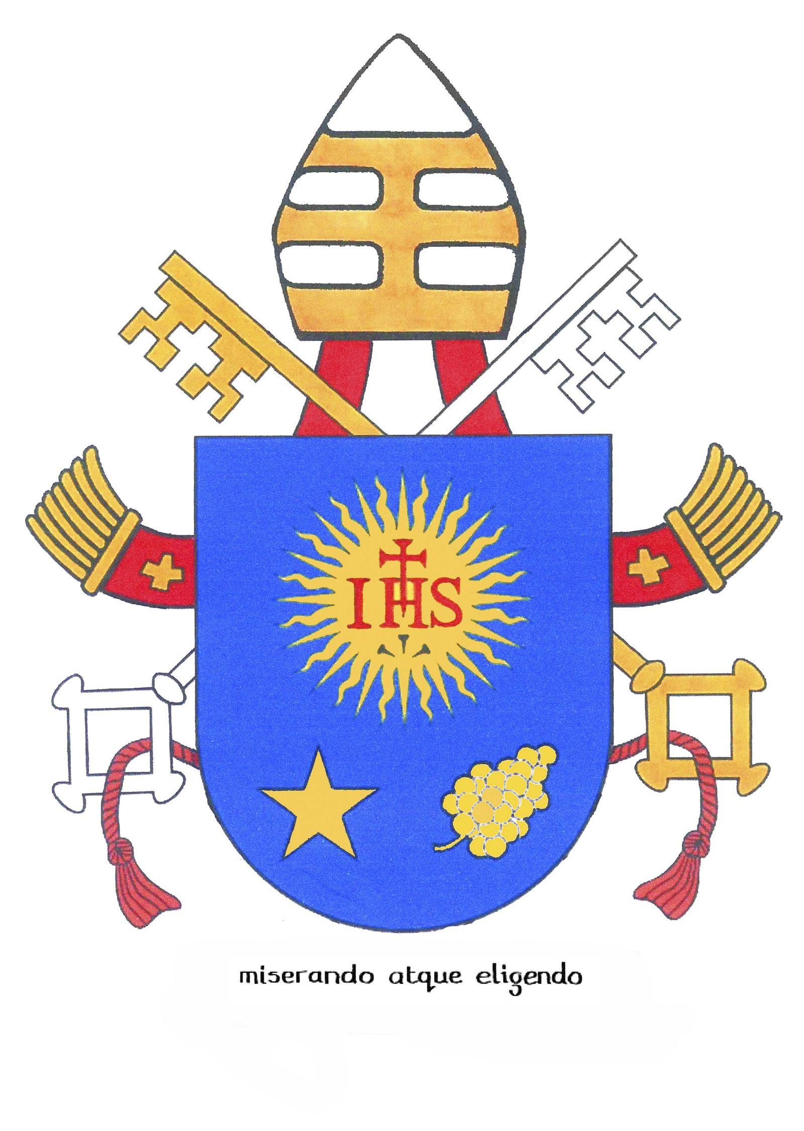 AUSGEGRABEN Wappen von Franziskus / Papst