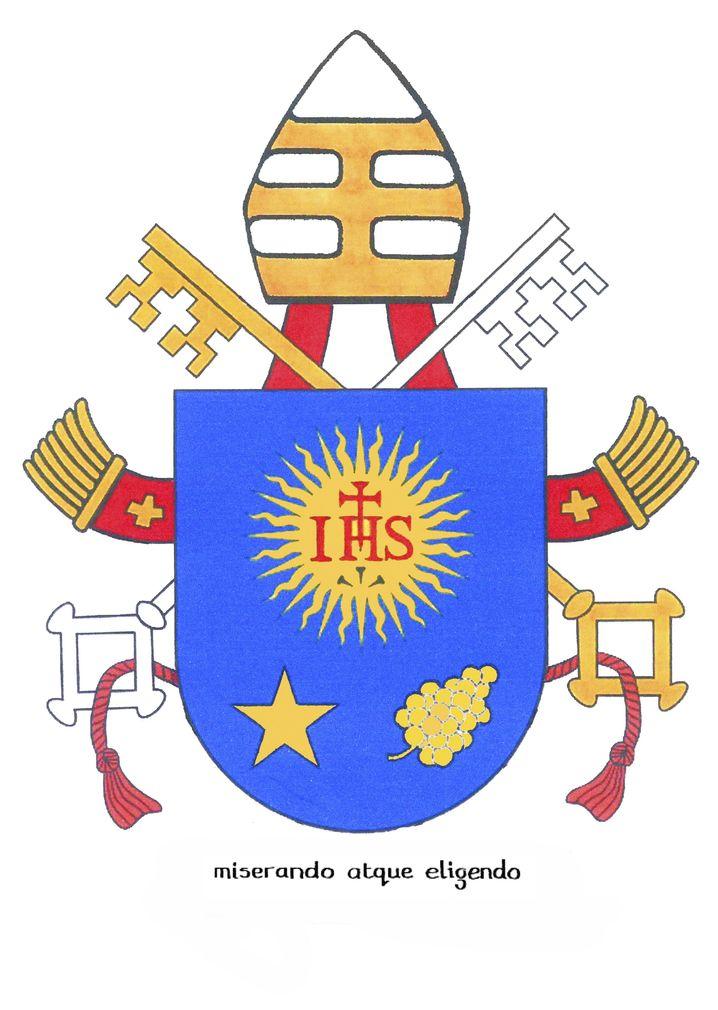 """Wappen von Papst Franziskus: """"miserando atque eligendo"""""""