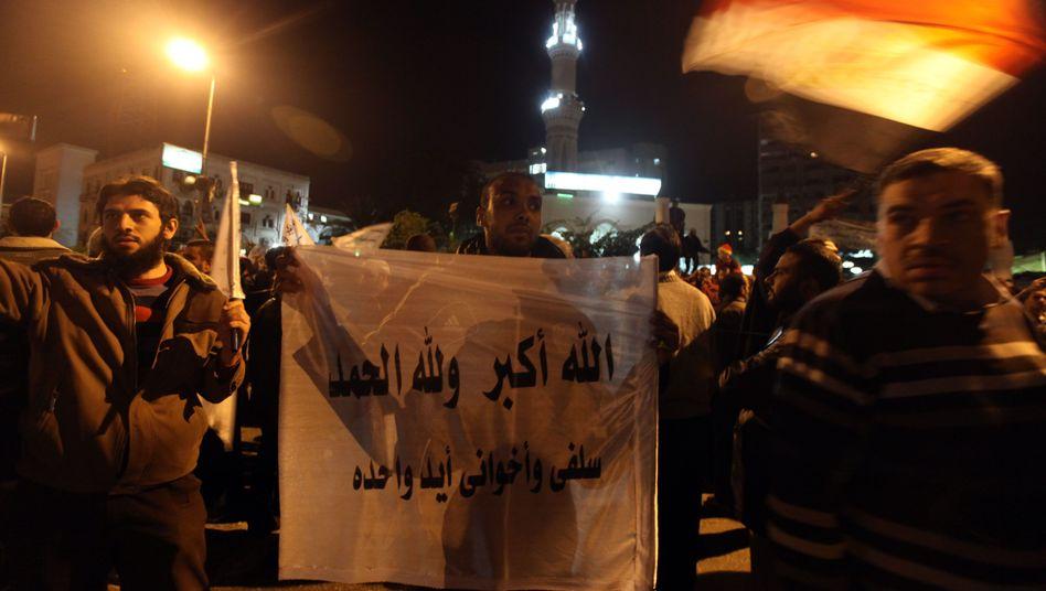 """Anhänger von Präsident Mursi und der Muslimbruderschaft: """"Langfristig keine Chance"""""""