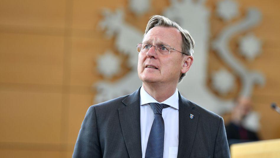 Bodo Ramelow (Die Linke), Ministerpräsident von Thüringen, im Thüringer Landtag