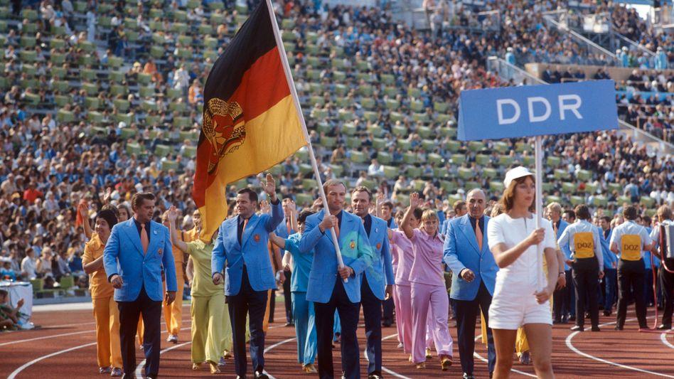 Einzug der DDR-Olympioniken 1972 in München