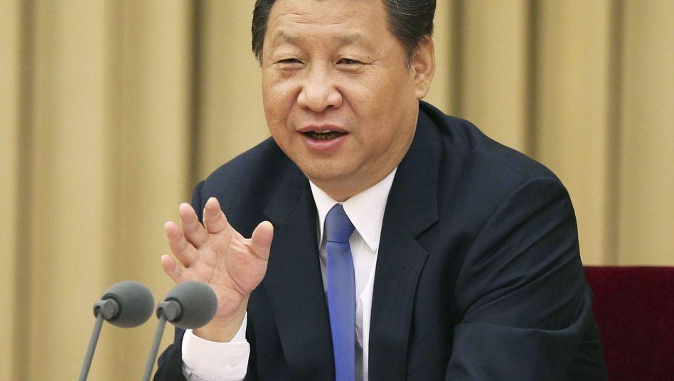 Staatschef Xi in Peking: Sicherheit ist sein Hauptthema