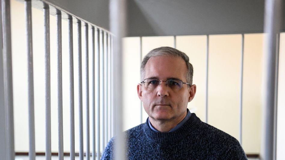 Paul Whelan im Gerichtssaal in Moskau