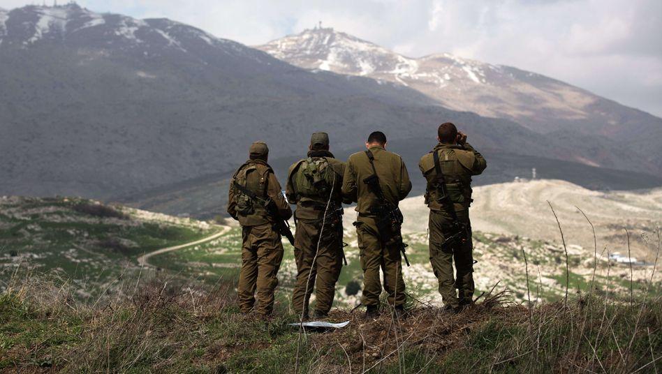 Israelische Soldaten an der Grenze zu Syrien: Kritik an Netanjahu